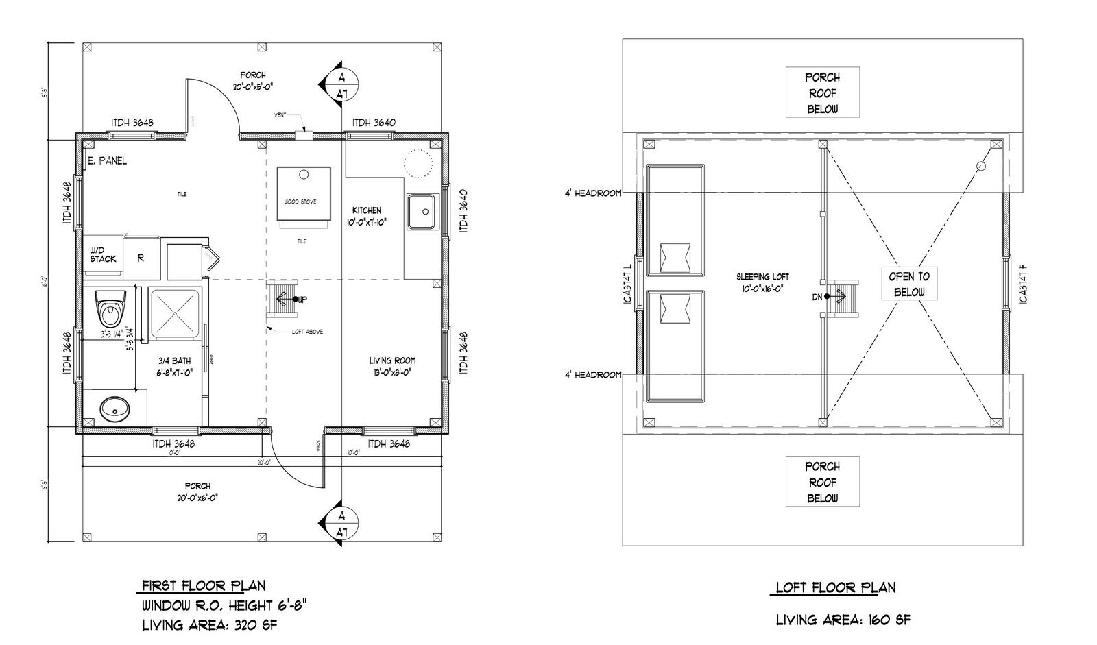 16 X 24 Floor Plan Plans By Davis Frame Weekend