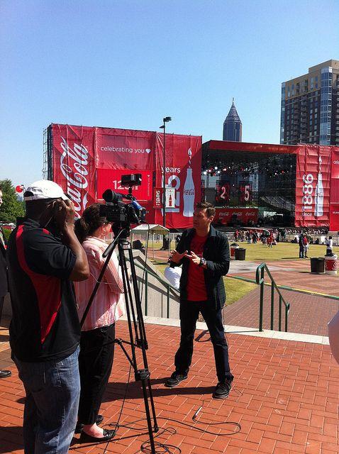 Ryan Seacrest at the Coca-Cola 125th Anniversary Concert