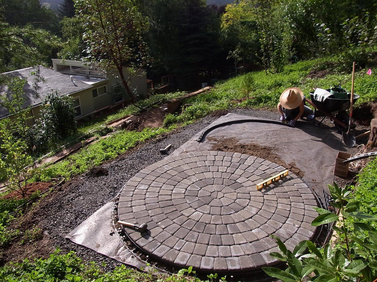 rockwood round patio kit w/ inlay dimensions: 12' diameter $1275 ... - Round Patio Ideas