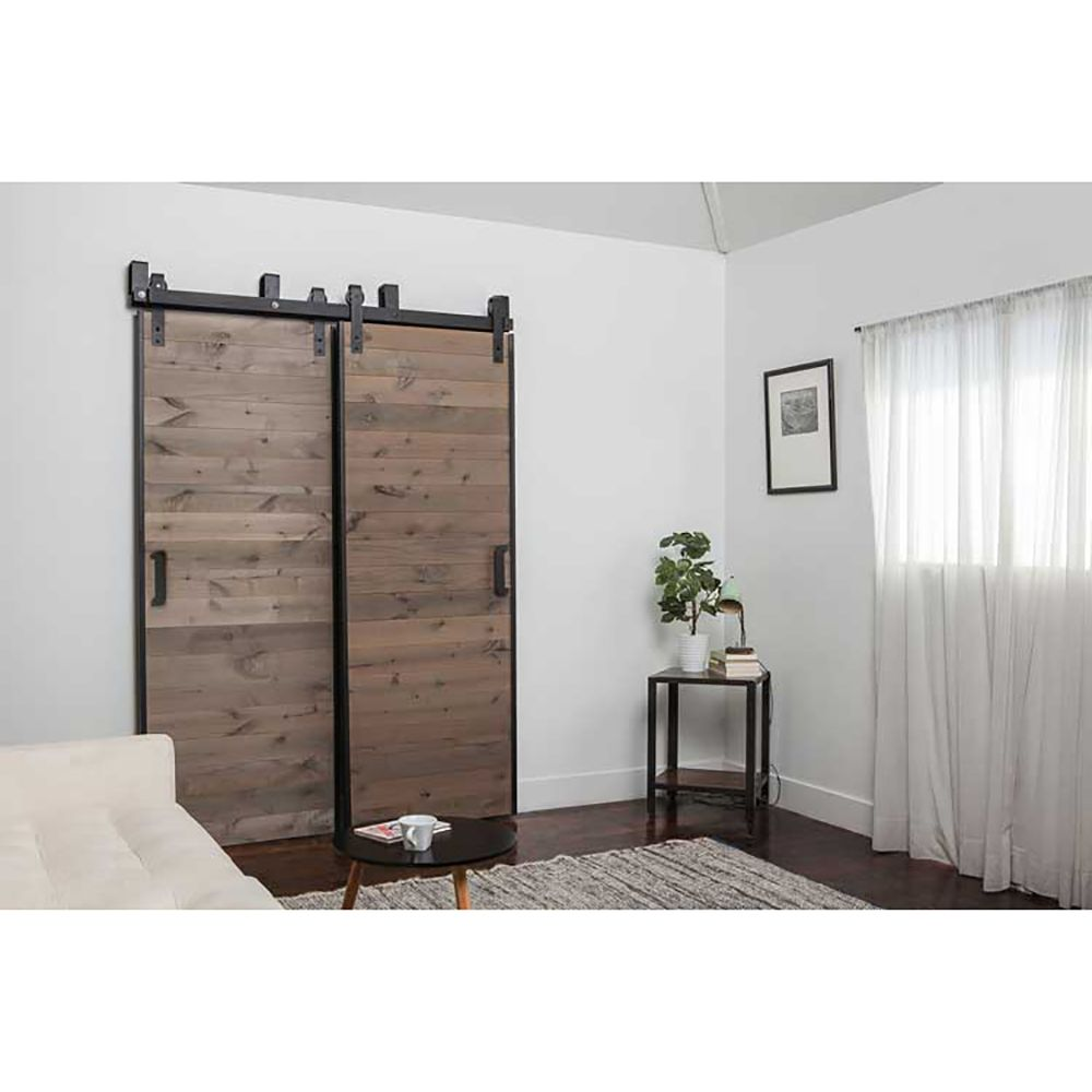 5 10ft New Listing Domestic Sliding Barn Wood Door Hardware Top Quality Steel Country Style Black Barn Do Door Hardware Wood Doors Barn Door Hardware