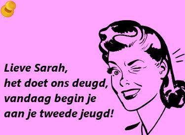 Leuke Spreuk Voor Een Sarah Die Haar 50ste Verjaardag