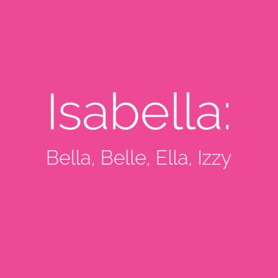 Baby Names With Awesome Nicknames Livingly Baby Girl Names Spanish Baby Girl Names Baby Names
