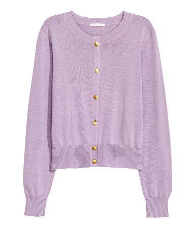 Fine knit cotton cardigan