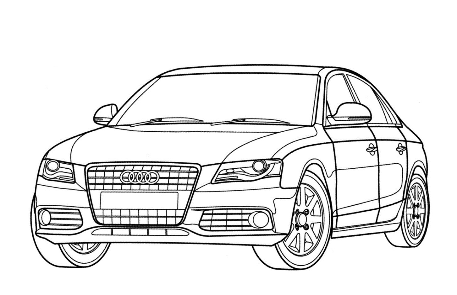 Malvorlagen Audi  Malvorlage auto, Audi 23, Malvorlagen