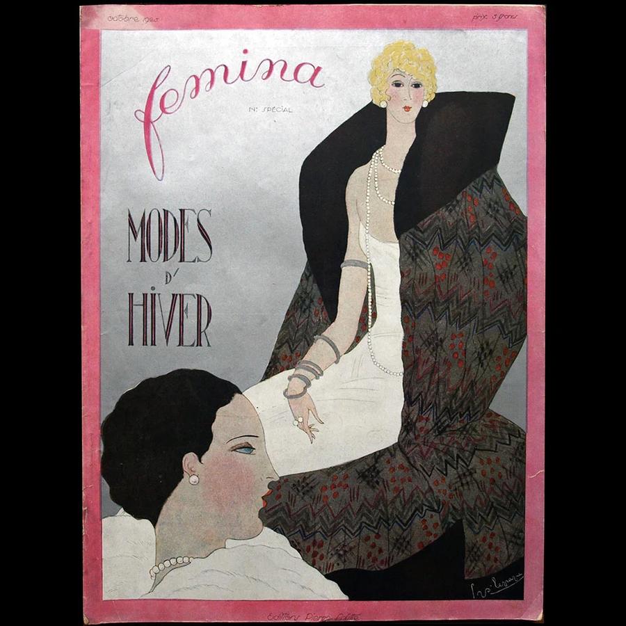 Fémina (octobre 1925), couverture de Lepape en