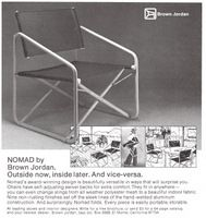 14a4100fe1a8 Brown Jordan Nomad Chairs 1978 Ad Picture