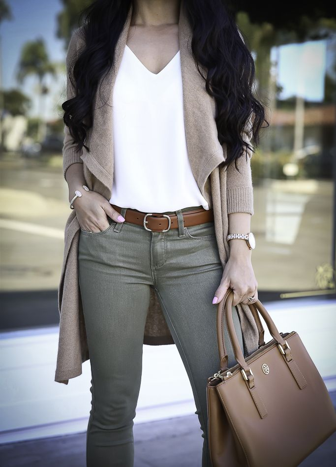 f6c9b7e1d6 How to wear olive green skinny jeans for fall
