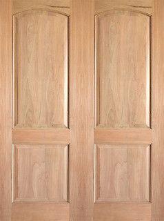 Interior Tropical Hardwood 2 Panel Arch Top Panel Double Door   Traditional    Interior Doors   Tampa   By US Door U0026 More Inc