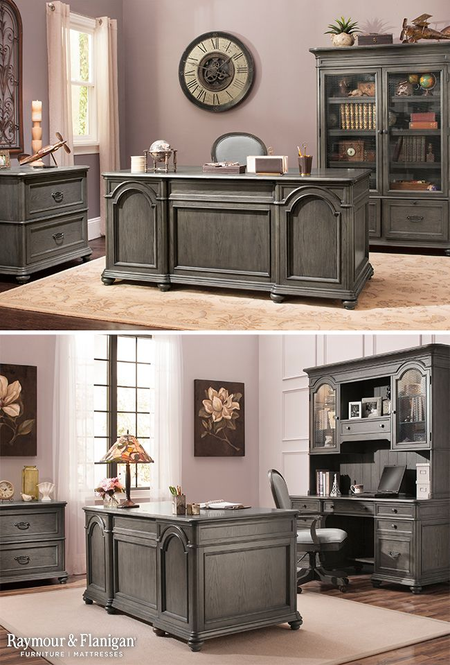 This New Home Office Collection May Be Traditional In Its Style But It S Also Modernly Functional With A Built Charging Station