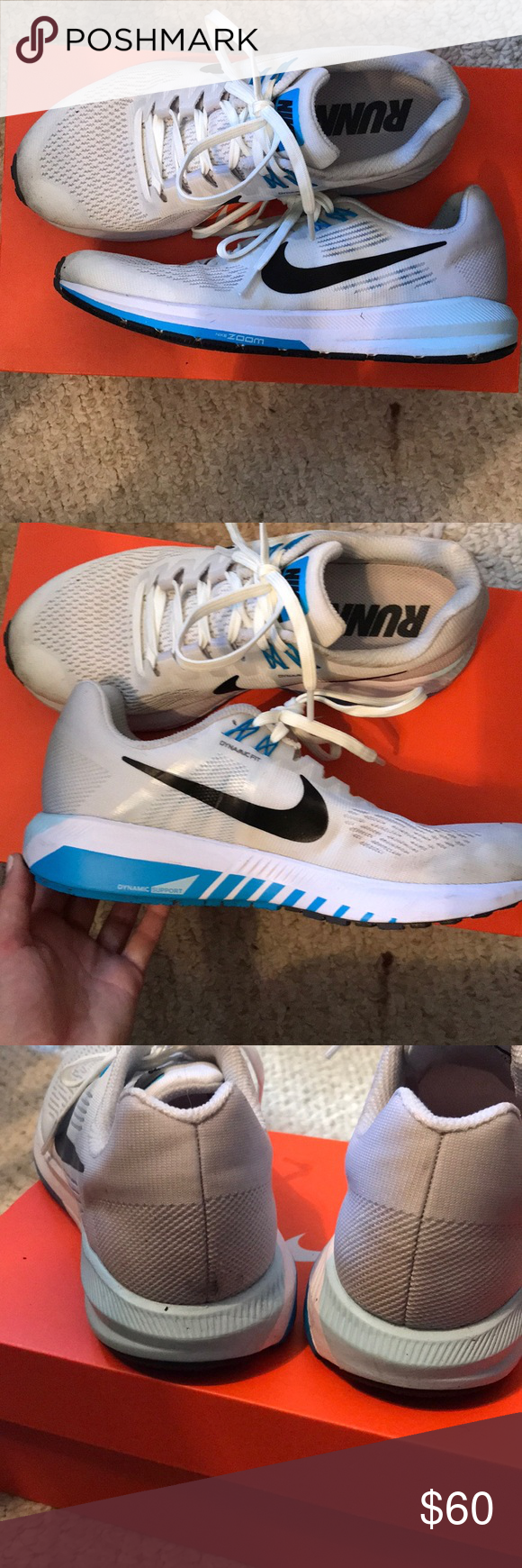 pretty nice 1a54b 98870 ... Nike Air Zoom Structure 21 shoe Greywhitelight blue. Worn low price  cef01 a5ac5 . ...