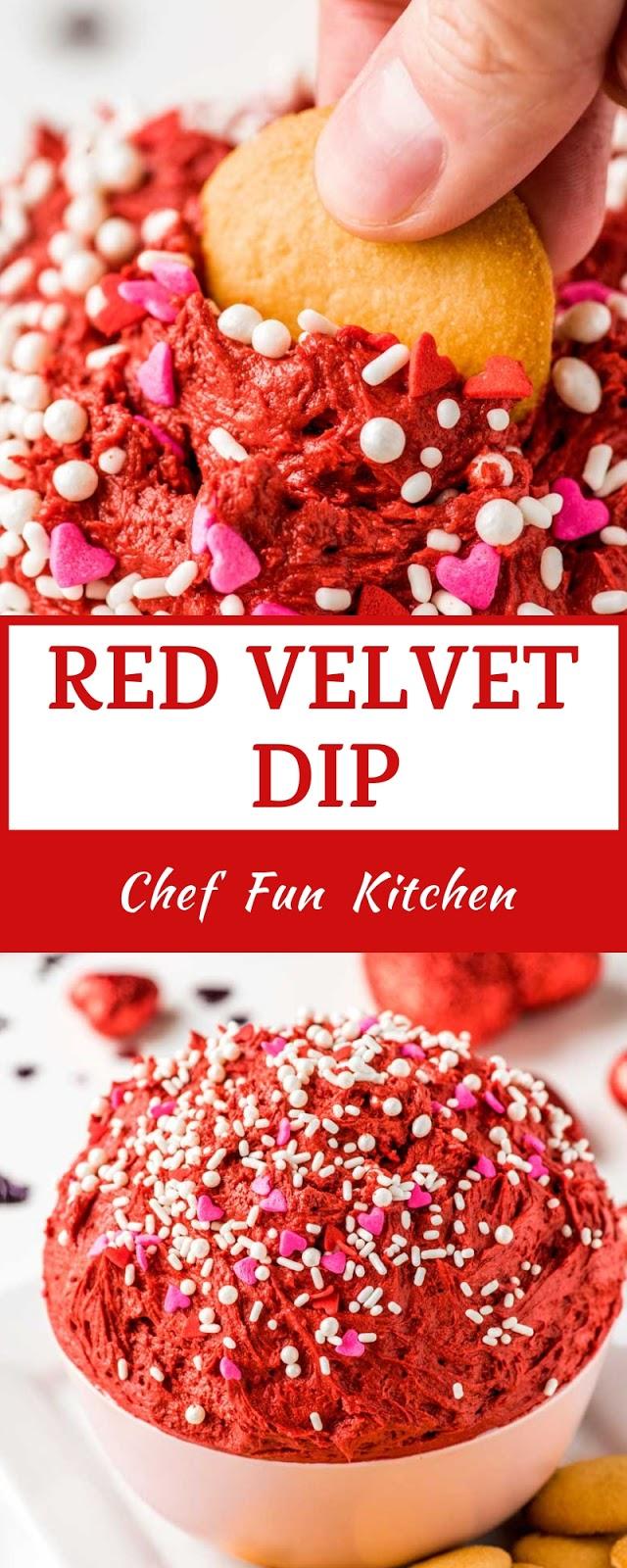 RED VELVET DIP #redvelvetcheesecake