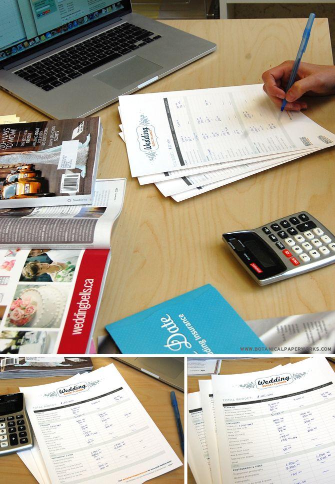 free printables} Wedding Budget Planner Wedding planning