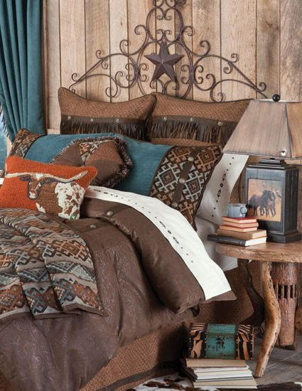 Western Bedroom: Cabin Bedding And Western
