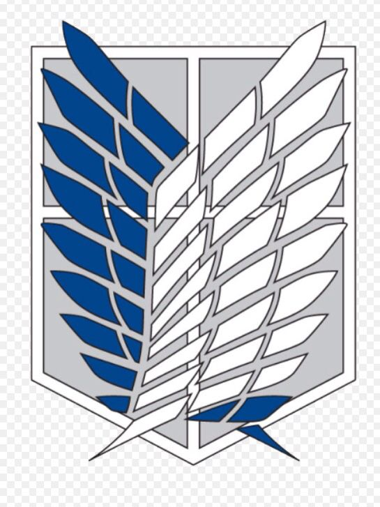 a597cab1 Wings of freedom logo // survey corps /// Attack On Titan / Shingeki ...