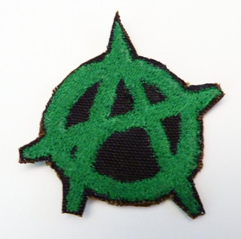 Anarchy Patch Iron On Patch Sew On Patch Cyberpunk Patch Etsy Sew On Patches Iron On Patches Handcraft