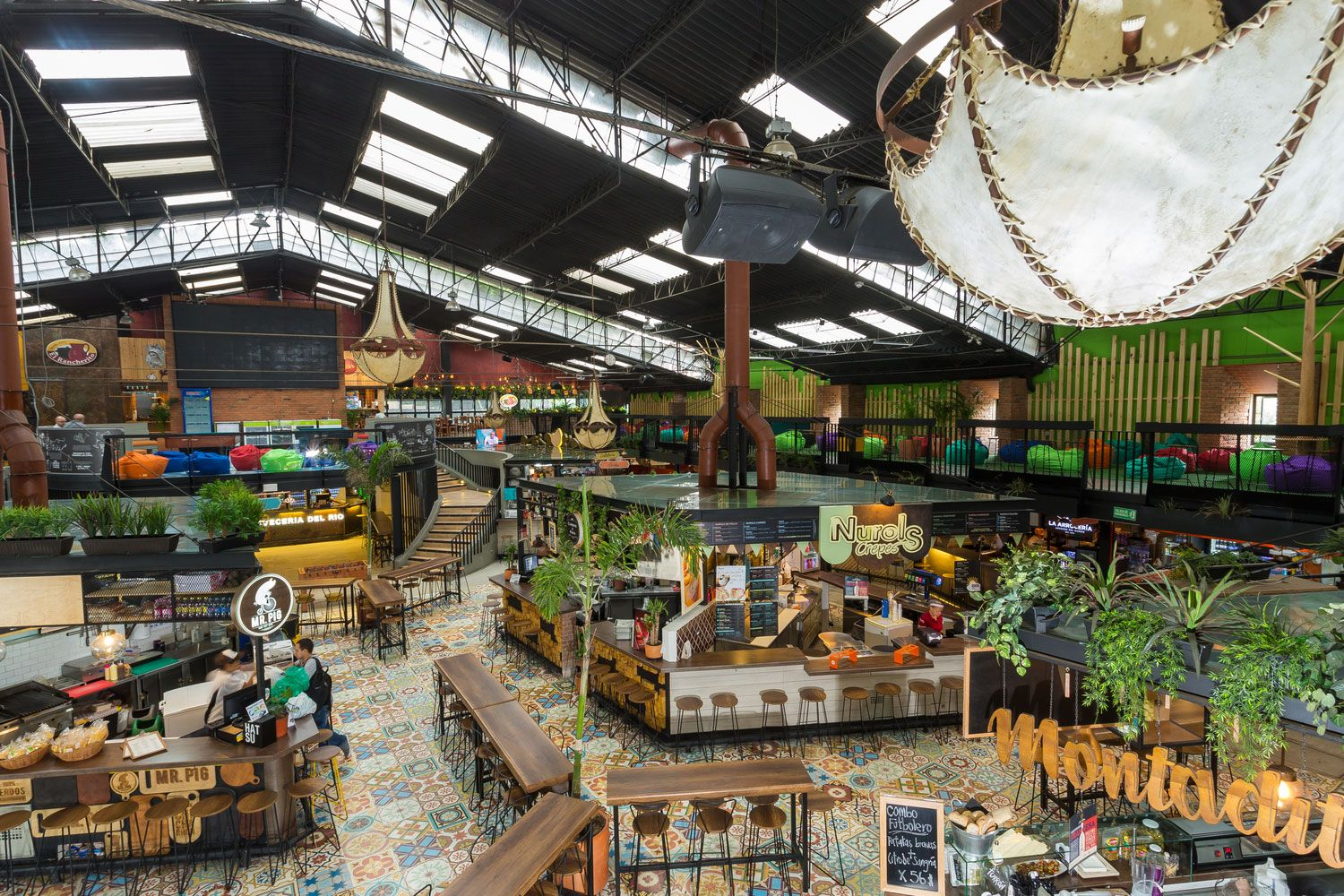 Gastronomic Market In The City Of Medellin Colombia Designed By