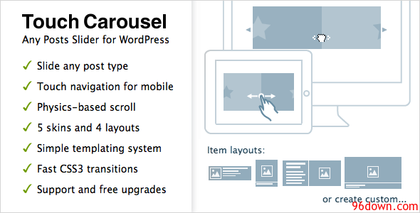 TouchCarousel 1 3 Posts Content Slider for WordPress | Kids