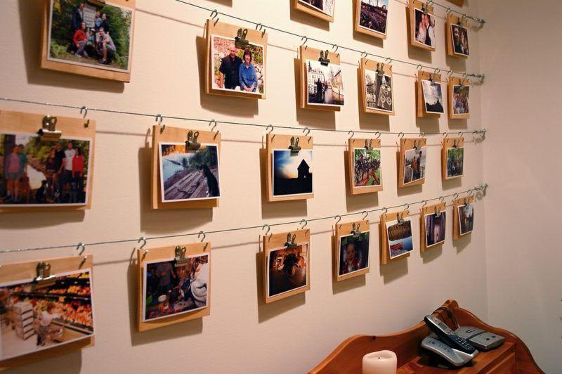 Fotos Aufhängen Kreativ : kreative fotos darstellung in 2019 fotowand ideen foto h nge und haus gestalten ~ Watch28wear.com Haus und Dekorationen