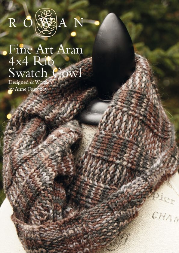 4x4 Rib Swatch Cowl Chunky Knitted Cowl With A Simple Knit And