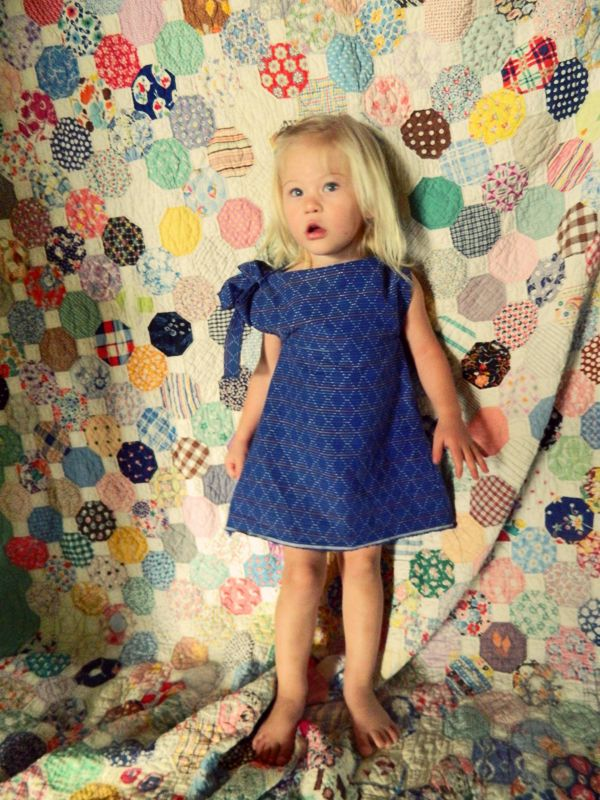 Sewing Series: Girls A Line Dress