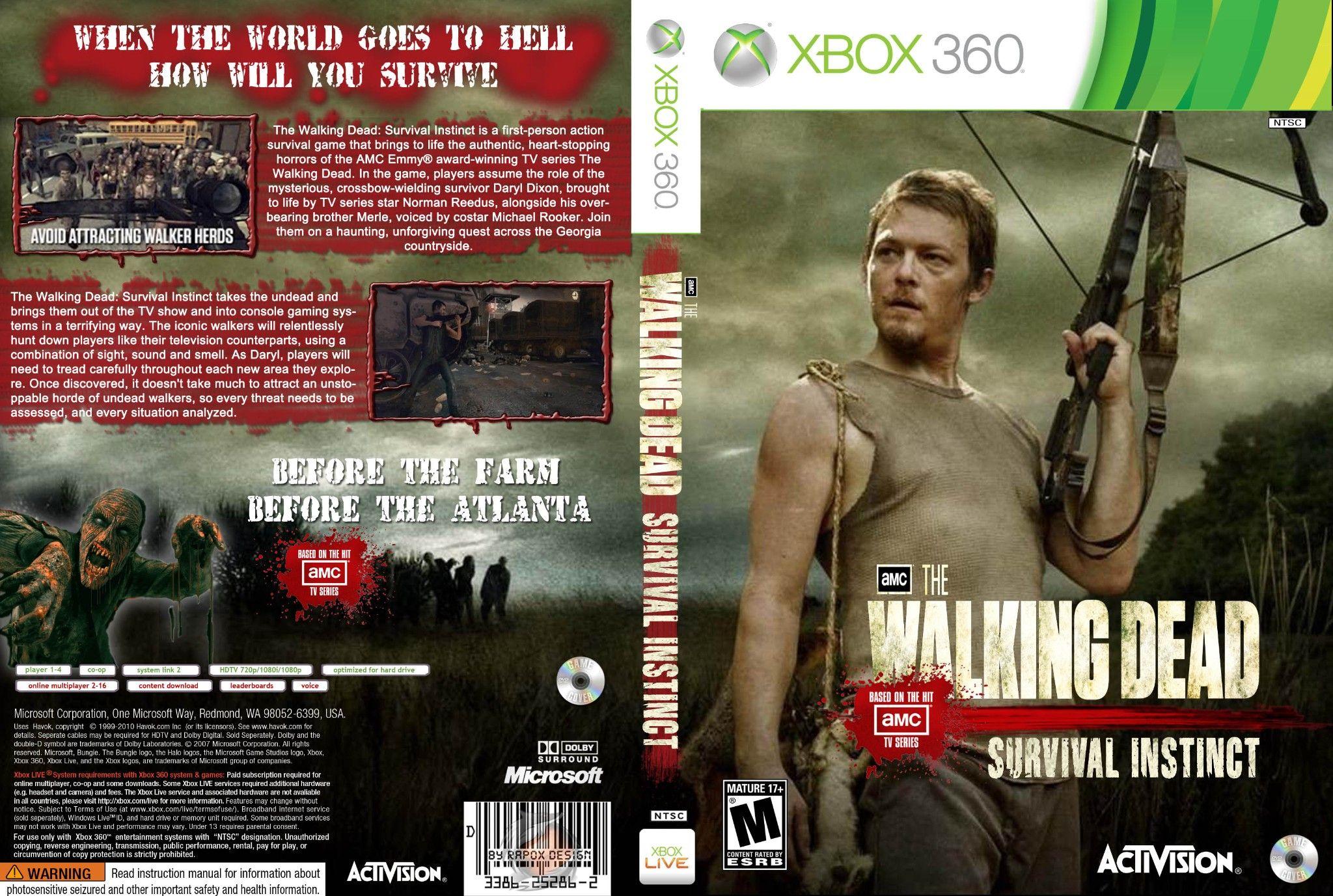 Walking dead xbox game jogos capa the walking dead survival capa the walking dead survival instinct xbox 360 exclusiva fandeluxe Image collections