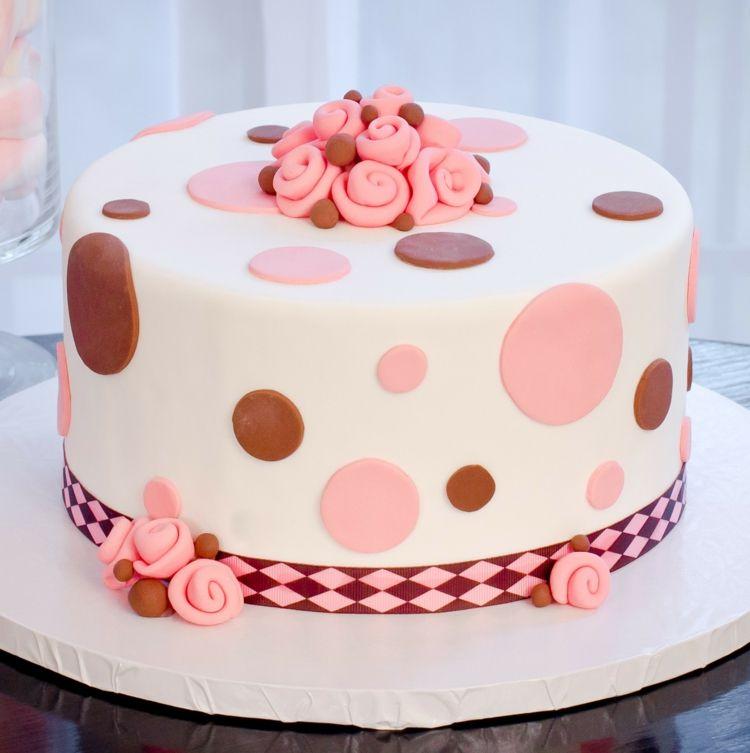 Torte Mit Punktmuster Rezepte Pinterest Torten Selber Machen