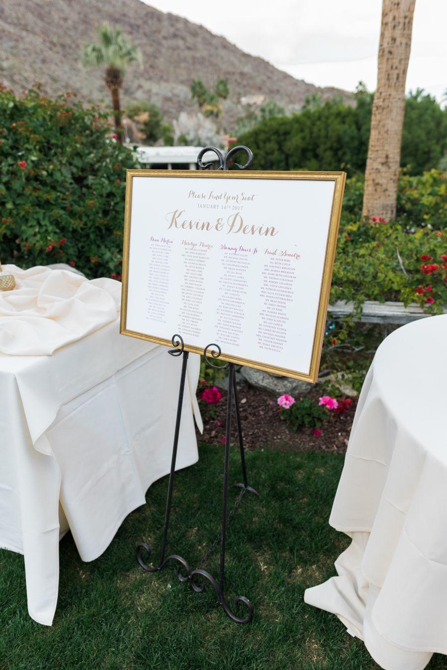 Invitations: Smitten on Paper - http://www.stylemepretty.com/portfolio/smittenonpaper Photography: Randy + Ashley Studios - www.randyandashley.com   Read More on SMP: http://www.stylemepretty.com/california-weddings/2017/02/24/high-school-sweethearts-palm-springs-wedding/