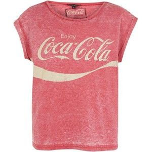 Red Coca-Cola Burnout T-Shirt New Look. Not a huge fan of message tee shirts…