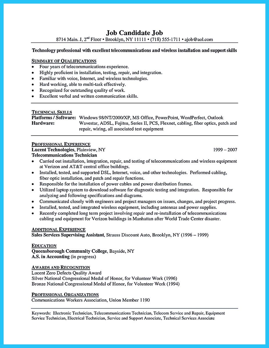 Are You Trying To Make The Best Cable Technician Resume Ever If So Rh In  Pinterest Com Project Coordinator Job Description Banquet Coordinator Job