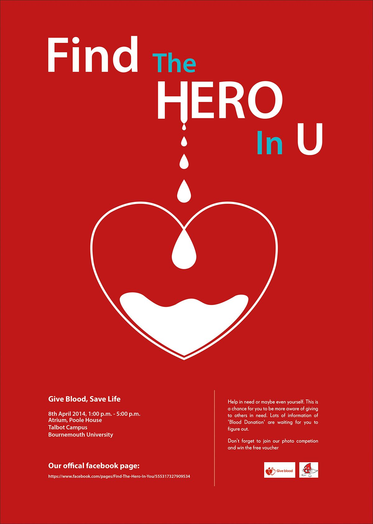 A Poster I Designed For The Blood Donation Event In