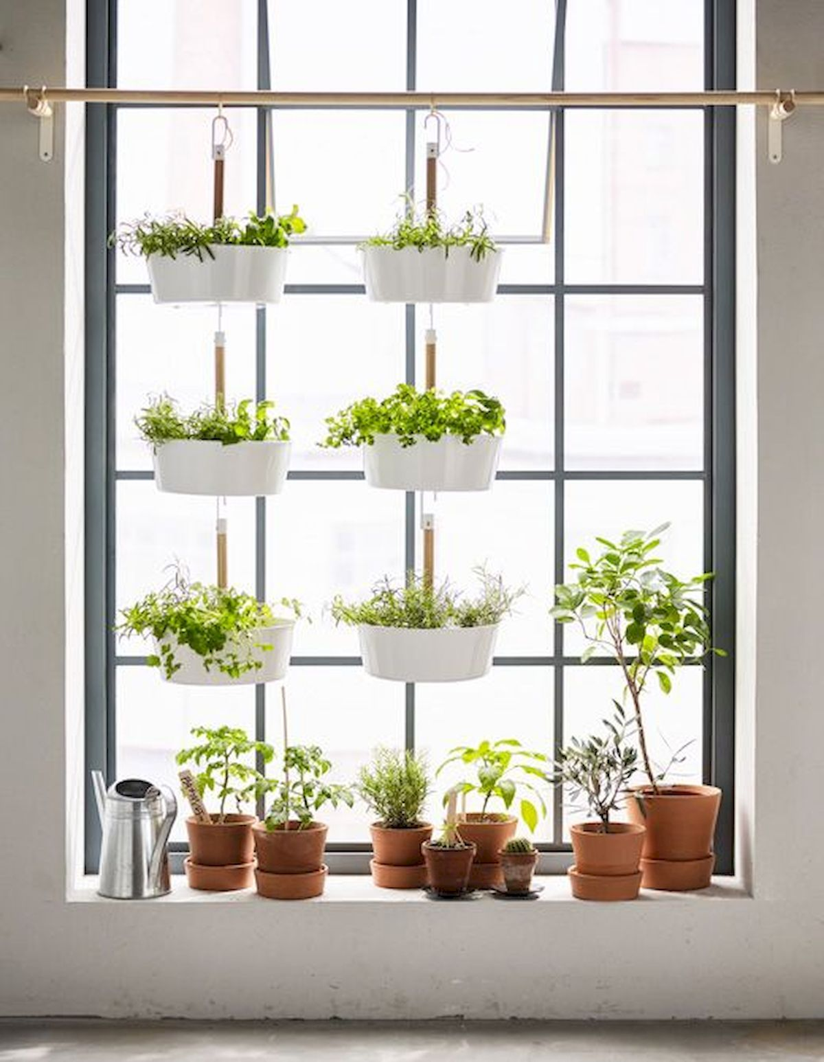 Awesome Most Attractive Diy Hanging Garden Ideas For Your Lovely Home Https Hajarfresh Com Most Attractive Diy H Apartment Plants Window Plants Herbs Indoors