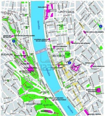 Budapest downtown map | Budapest | Pinterest | Budapest and Budapest ...