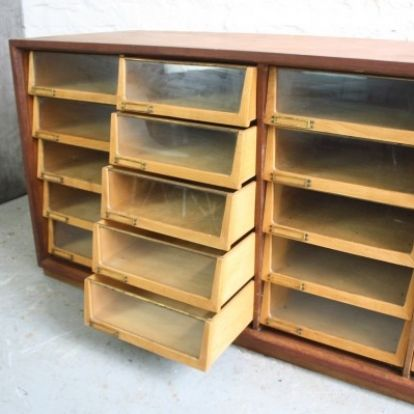 Midcentury 20 Drawer Haberdashery Shop Counter | Lovely & Co.