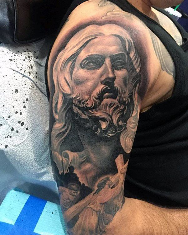 Jesus Half Sleeve Tattoo : jesus, sleeve, tattoo, Projects