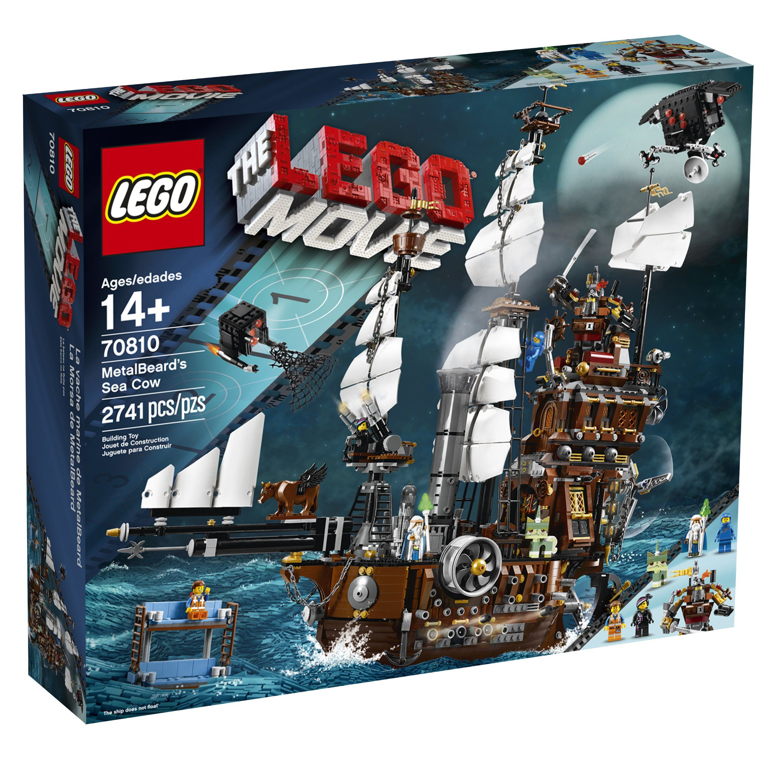 Amazon.com: LEGO Movie 70810 Metal Beard's Sea Cow: Toys & Games