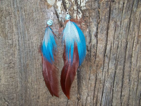 Dangle Feather Earrings Indian Princess :)