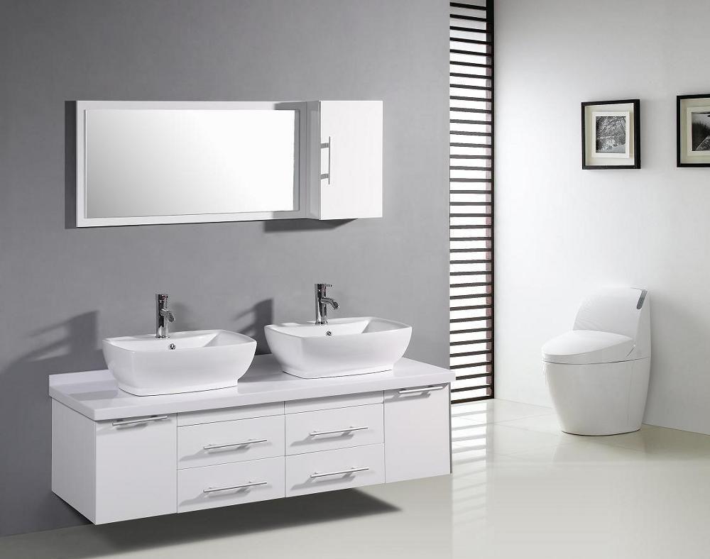 Waschbeckenunterschrank Bioul Inkl Beleuchtung Hochglanz Weiss Eiche Grandson Dekor Spiegelschrank Badezimmer Dekor Badunterschrank