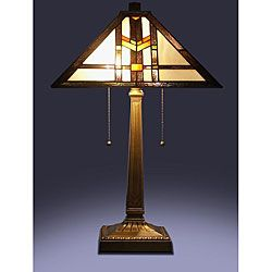 Tiffany style mission table lamp brown bd128618k tiffany tiffany style mission table lamp overstock shopping the best deals on tiffany mozeypictures Gallery