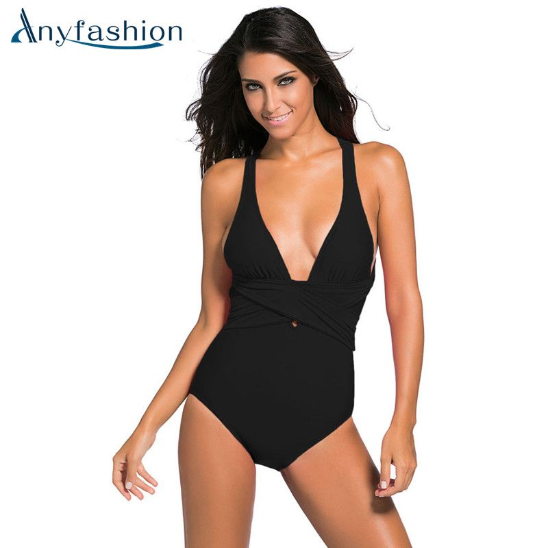 d1cf307ec6971 New One Piece Swimsuit Brazilian Bikini Set Sexy Beachwear Plus Size  Swimwear Women Bikinis Black Bathing Suit  Affiliate