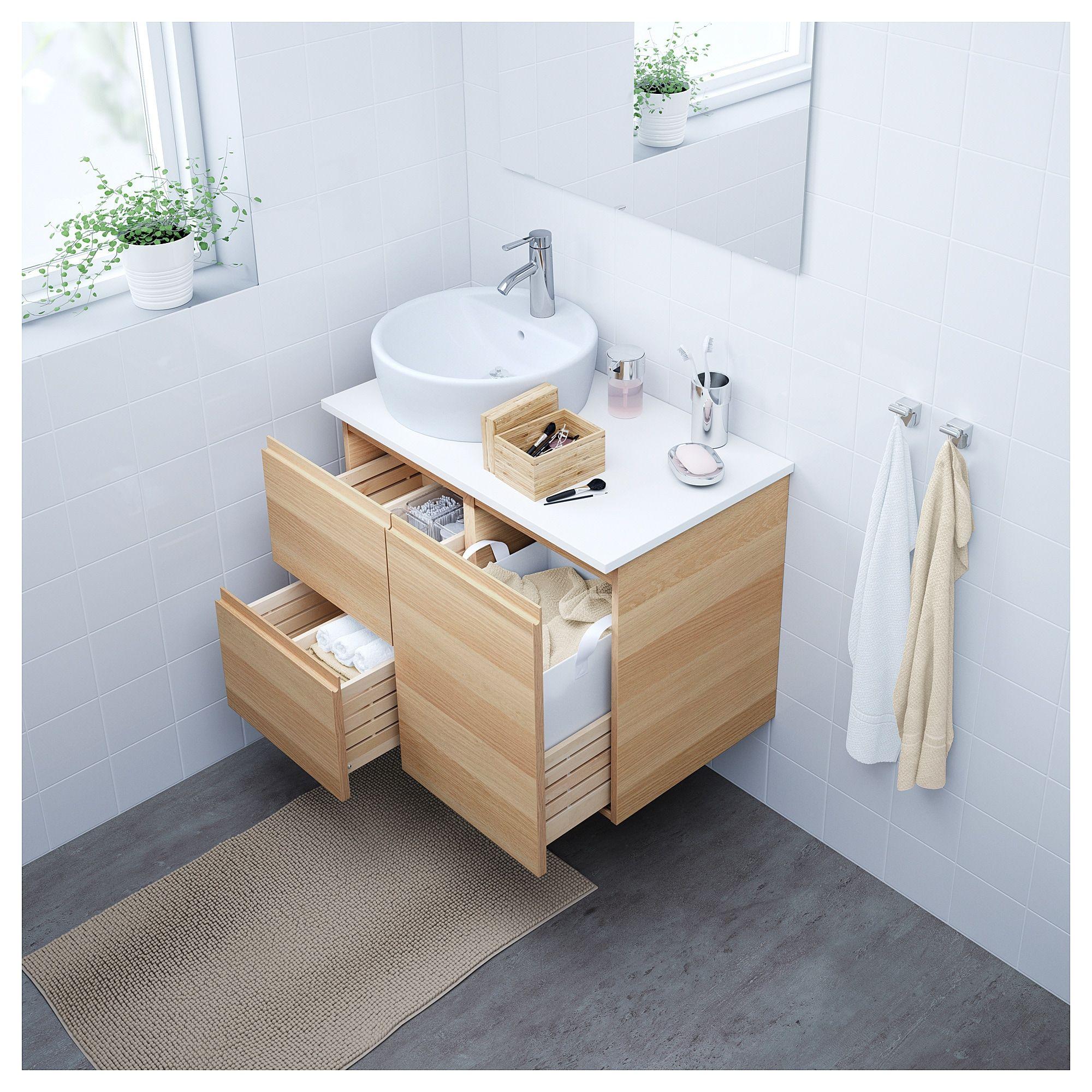 Godmorgon Wascheschrank Eicheneff Wlas Waschbeckenschrank Ikea