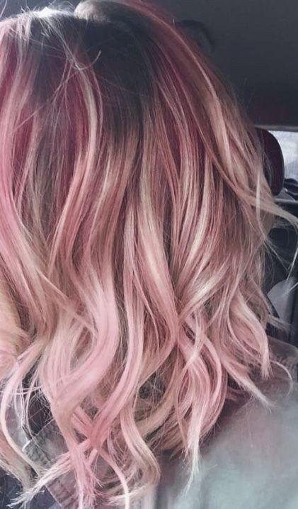 #hair #haircolor #pink #cabello #hairideas #hairinspiration 🖤