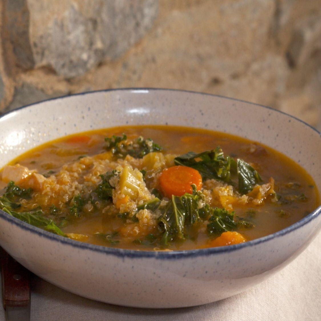 Chicken Veggie Soup Recipe Veggie soup, Chicken veggie