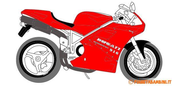 Immagini Di Moto Da Colorare.Moto Da Colorare Disegni Colori E Disegni Da Colorare