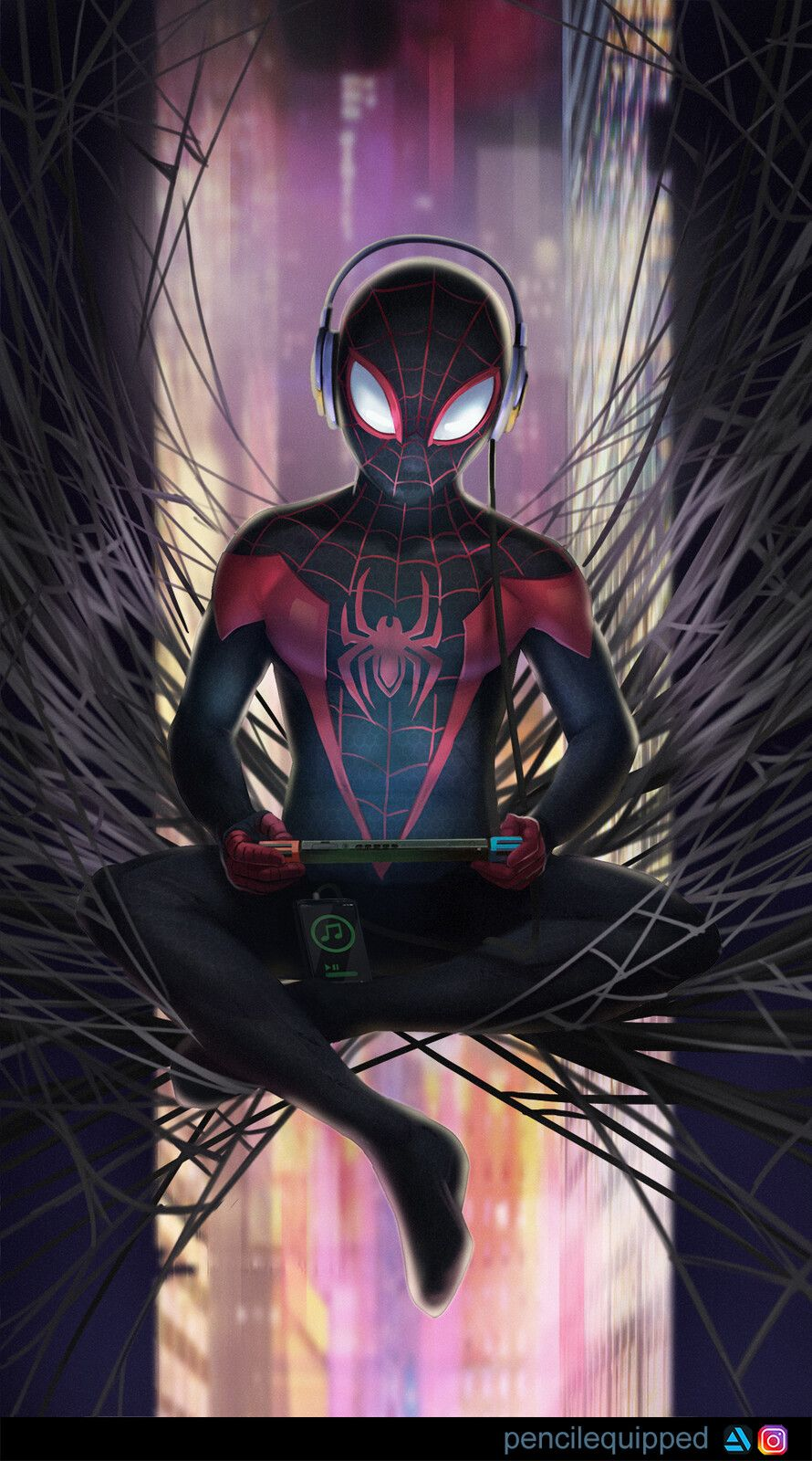 SpiderMan (Miles Morales), Pencil Equipped on ArtStation