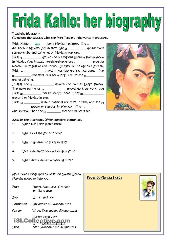 Frida Kahlo Her Biography Autobiografia En Ingles Educacion