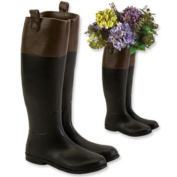Ceramic Riding Boot Vase. Perfect for just outside the barn