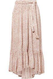 214a4d6f3b Faithfull The Brand Sabila belted floral-print crinkled-crepe skirt ...