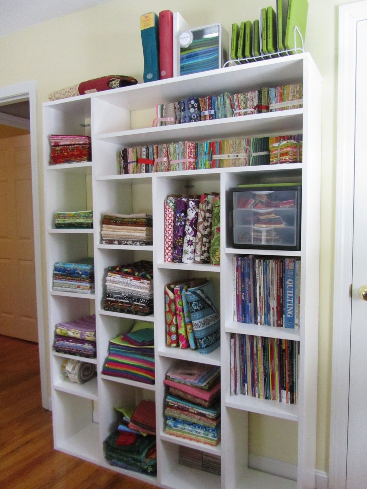 Great fabric storage - Quilting Jewel My Quilting Room & Quilting Room | Pinterest | Quilting room Fabric storage and ...