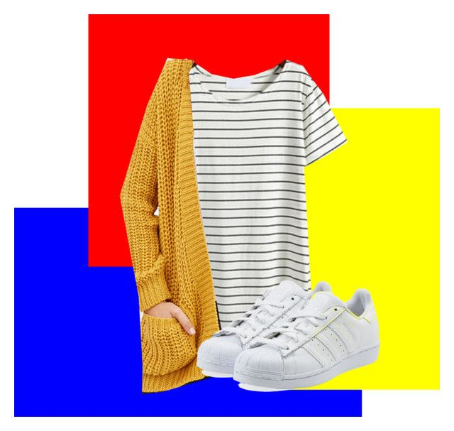 """""""Untitled #134"""" by rosebuscemi on Polyvore featuring Forever 21 and adidas Originals"""