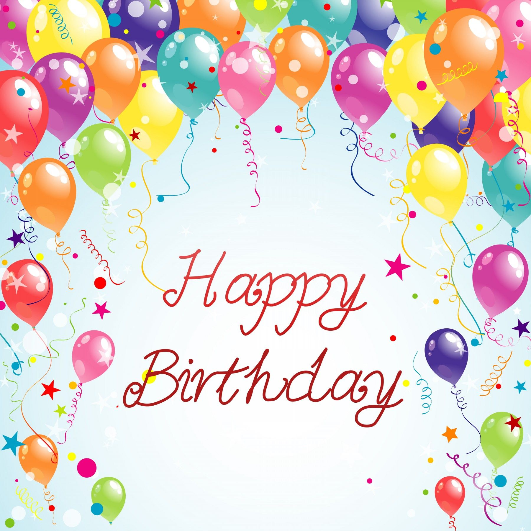 You feel very happy when some special wish your birthday in special color beautiful birthday card with balloons bookmarktalkfo Images
